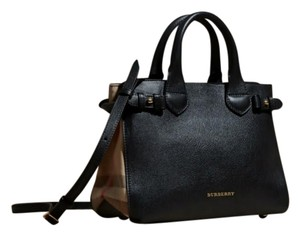 Burberry Leather/canvas Tote in Black