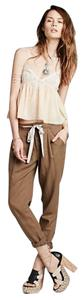 Free People Crop Tie Relaxed Pants Maple Sugar