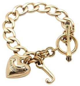 Juicy Couture New Juicy Couture Chain Linked Bracelet w/Heart Pendant