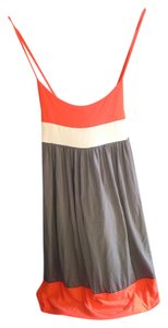 Forever 21 short dress Coral, White, Gray on Tradesy