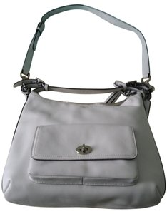 Coach Leather Silver Hardware Hobo Bag
