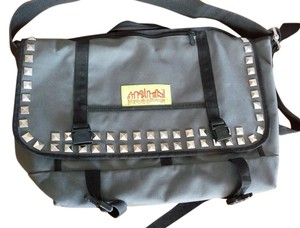 Manhattan Portage Tokyo Limited Edition Studded Gray Messenger Bag