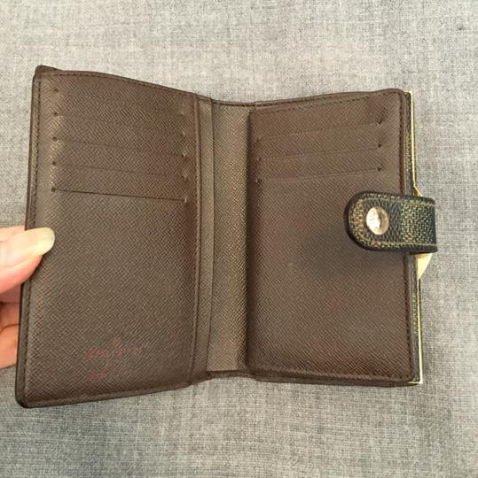 e12058b5d114 Louis Vuitton Brown French Damier Ebene Kisslock Bifold with Coin Pocket  France Wallet - Tradesy