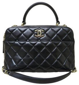 Chanel Like New 2016 Leather Satchel in black