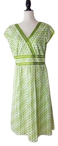 Coldwater Creek short dress Green Polka Dot Easter Party V-neck on Tradesy