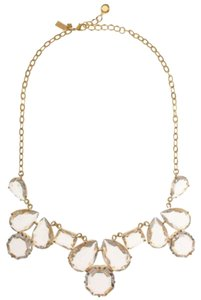 Kate Spade NWT KATE SPADE COATED SETTING STATEMENT NECKLACE CLEAR GOLD W BAG $178