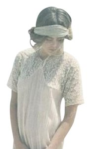 Mes Demoiselles Bohemian Gauze French Embroidered Lace Inset Top Cream Multi