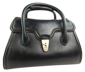 Gucci Vintage Leather Doctor Tote in Black