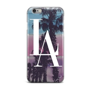 Case Yard NEW Clear Plastic IPhone Case with Los Angeles Design, Size 7s