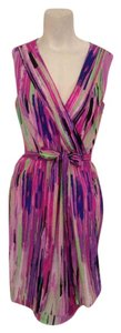 Catherine Malandrino short dress Pink purple green black on Tradesy