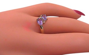 Other 10K Yellow Gold 1.1 cts Amethyst & Diamond Ring #4