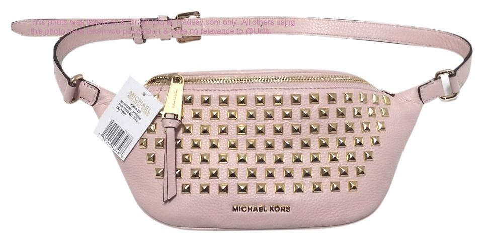 2a616f3629c6 Michael Kors Sale ( Mk ) Rhea Studded Leather Fanny Pack Waist Gym ...