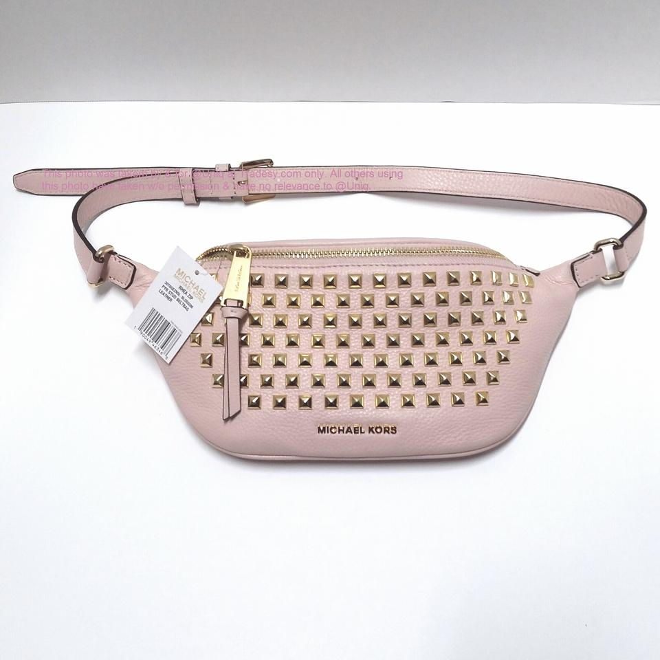 bf6e657e417467 Michael Kors Sale ( Mk ) Rhea Studded Leather Fanny Pack Waist Gym ...