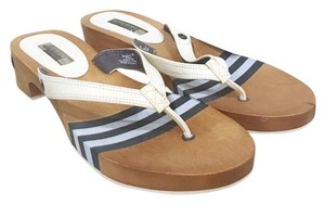 Sperry Blue, White, Brown Sandals