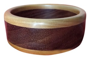 Other Hand-turned Walnut & Cherry wood Bangle