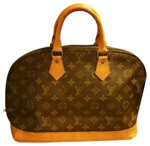 Louis Vuitton Monogram Alma Satchel in Brown