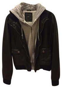 OBEY Black & Gray Leather Jacket