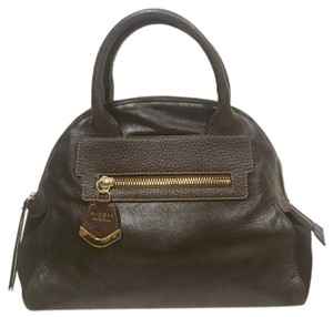 NICOLI Satchel in Black, Brown