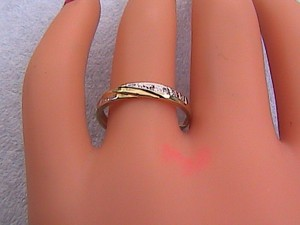 10k Yellow Gold 0.056 Cts Diamond Band Ring #5