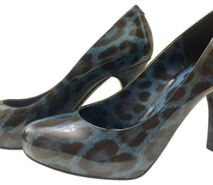 Dolce&Gabbana Leopard Pump Leather Patent Blue Pumps