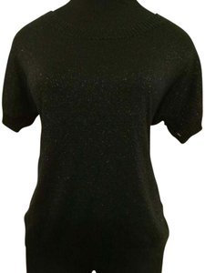 Old Navy Top Black with silver glitter