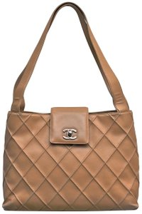 Chanel Quilted Handbag Wild Stitch Shoulder Bag