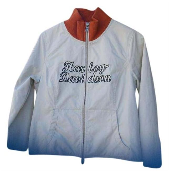 Item - Cream and Orange Light Weight Cotton with Mesh Lining. Jacket Size 6 (S)