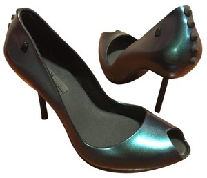Melissa Rubber Green Platforms
