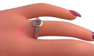 10K Yellow Gold 0.45 cts Amethyst & Diamond Ring #9