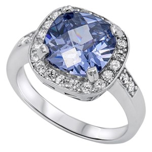 9.2.5 Amazing 4 carat tanzanite and white sapphire cocktail ring size 8