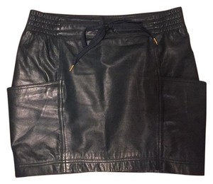 Marc by Marc Jacobs Leather Leather Deep Mini Skirt Green