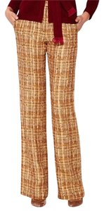 Carolina Herrera Straight Pants gold tweed