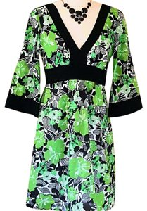 Tibi short dress Black Green White Limited Edition Bell Sleeve Nwt on Tradesy