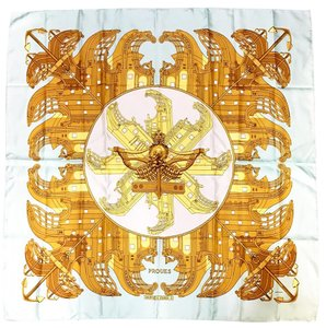 Hermès Hermes silk scarf signed by the artist Philippe Ledoux