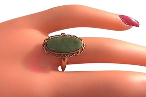 Other 10k Yellow Gold Jade Ring #13