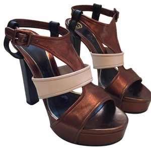 Gucci Bronze & white Platforms