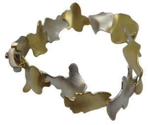Tiffany & Co. Frank Gehry Leaves Bracelet In 18k Yellow Gold Sterling Silver