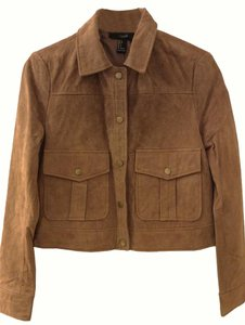 Forever 21 Suede Tan suede Leather Jacket
