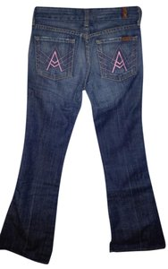 7 For All Mankind 25 Pink Boot Cut Jeans-Medium Wash