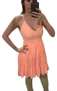 Elizabeth and James short dress Orange on Tradesy