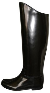 Bottega Veneta Leather Riding Leather Black Boots