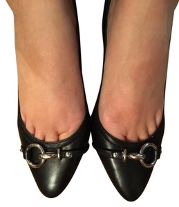 Coach Leather Round Toe Heels BLACK Pumps