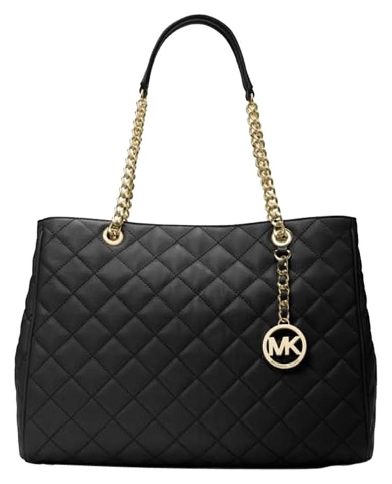 7ebb5c0a9514 Michael Kors Large Quilted-leather Black Leather Tote - Tradesy