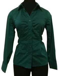 Apostrophe Button Down Shirt Green