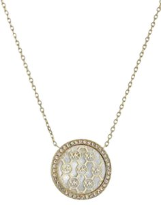 Michael Kors Mkj5370 Gold Monogram Pendant Necklace