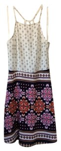 Divided by H&M short dress Cream with multicolored design on Tradesy