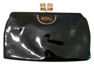 Betsey Johnson Patent Leather Black Clutch