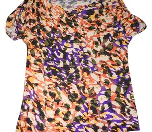 Anne Klein Work Colorful Top Multicolored Animal Print