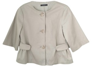 Tahari Elie Spring Neutral Tones Cropped Tan Beige Jacket