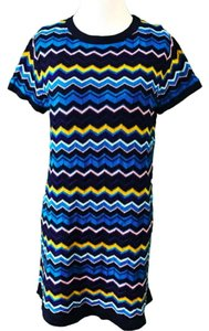 Missoni for Target short dress Blue Zigzag Knit Short Sleeve on Tradesy